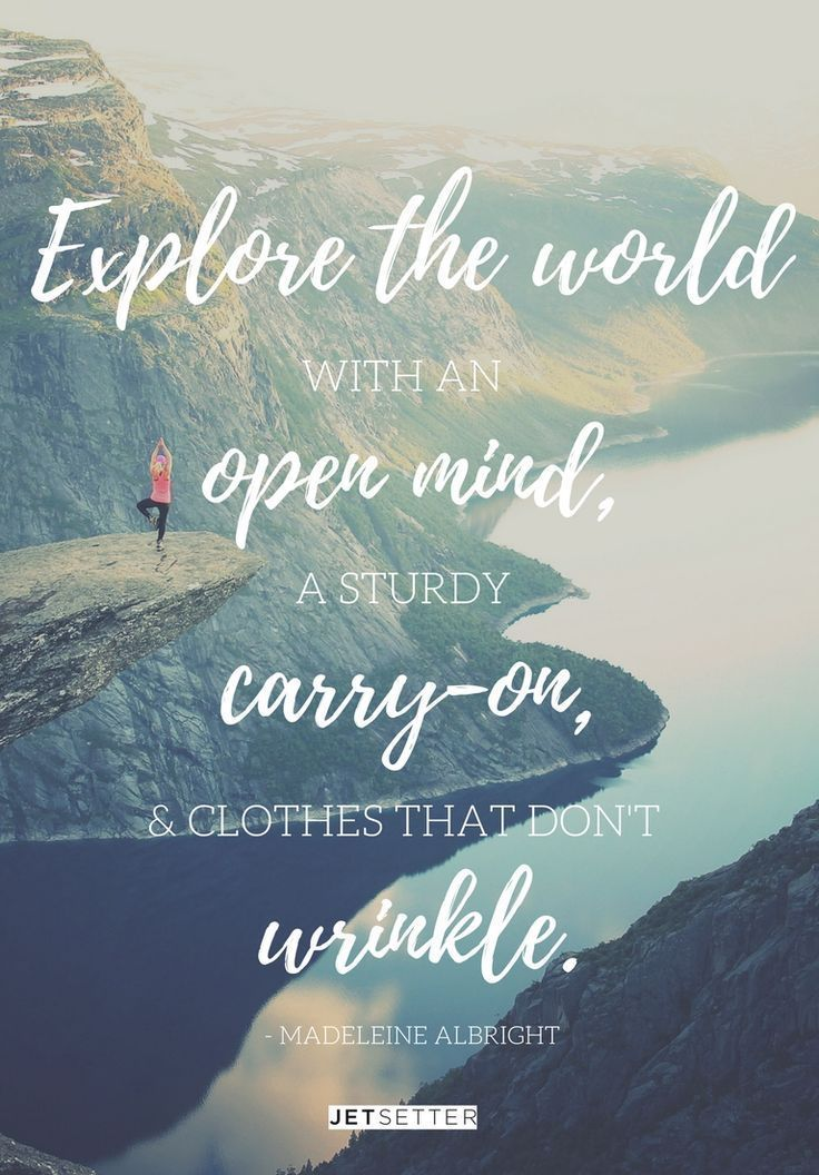 Motivational Quotes : A travel quote from Madeleine ...