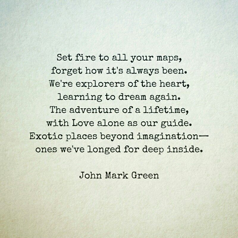 A Call to Adventure - love poem by John Mark Green #love # ...
