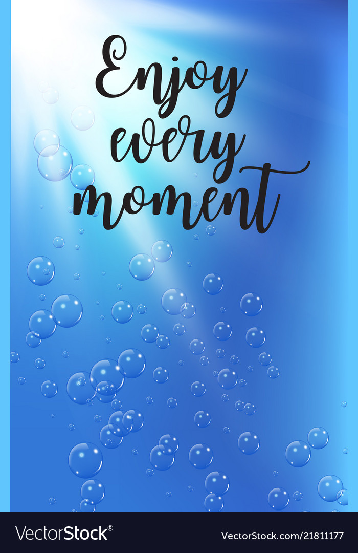 Travel quote on under water background with Vector Image